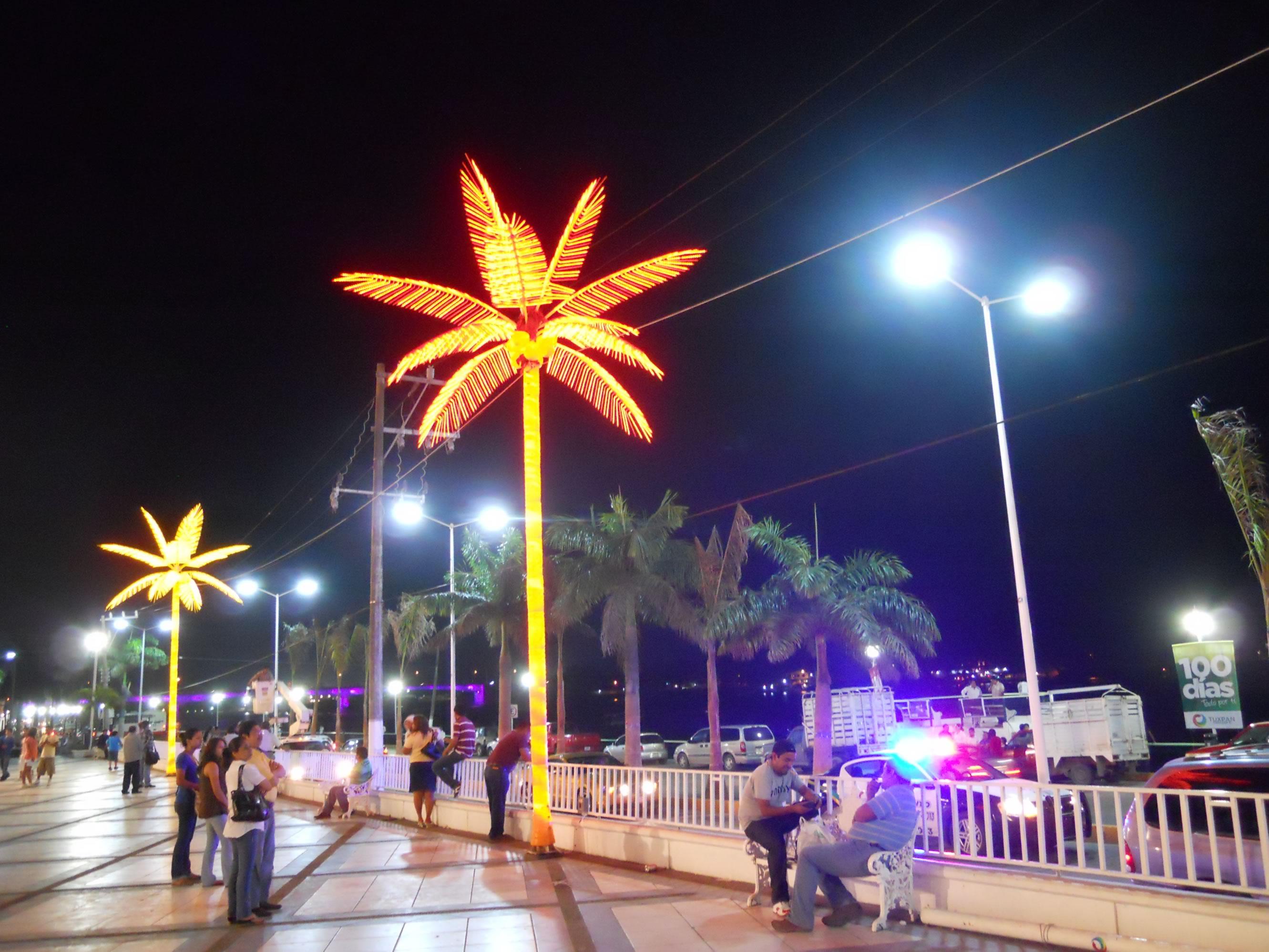 Estrena el boulevard nuevo alumbrado p blico expreso de for Palmeras artificiales