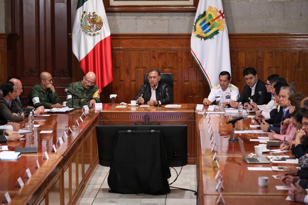 Al presidir la reunión del Comité Estatal de Emergencias, el Gobernador Yunes informó que solicitará la Declaratoria de Desastre para la entidad