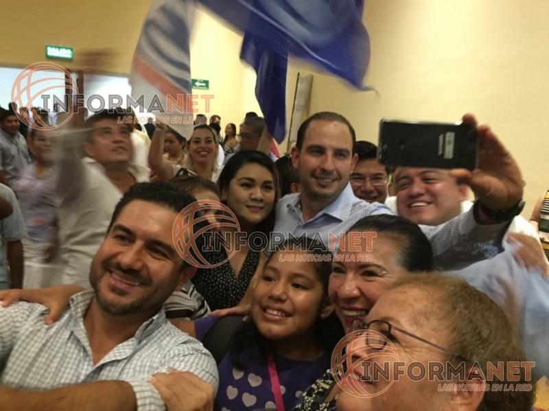 <h1>'Aquí estoy; yo no me rajo': MAYM (Video)</h1>El panista llamó a votar por Marko Cortés