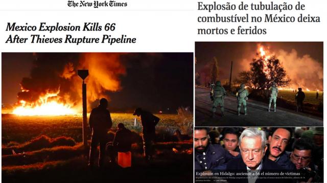 Así mostraron los medios internacionales el 'México en llamas'